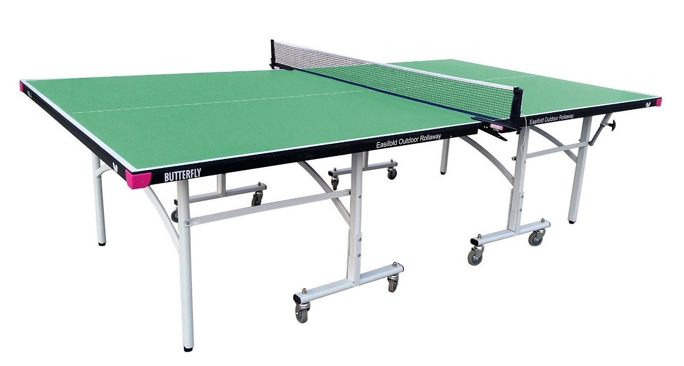 Butterfly Outdoor Rollaway Table Tennis Table